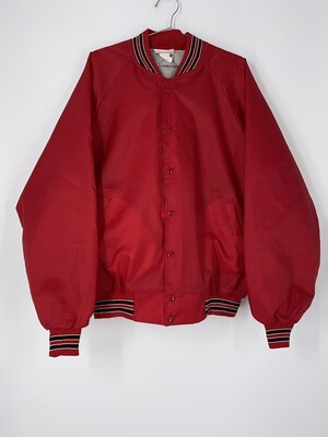 Hartwell Red Button Up Bomber Size L