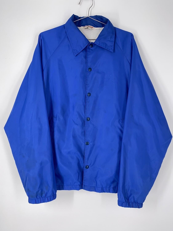 Wear Guard Blue Button Up Windbreaker Size M