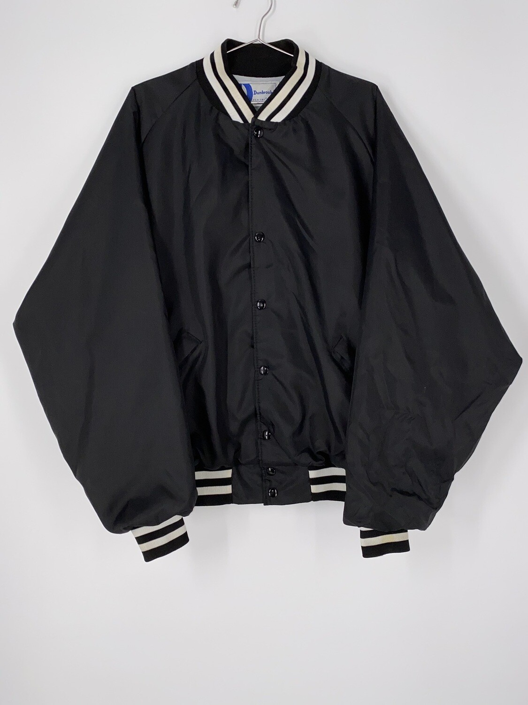 "Dunbrooke ""NWU"" Patch Black Bomber Jacket Size L"