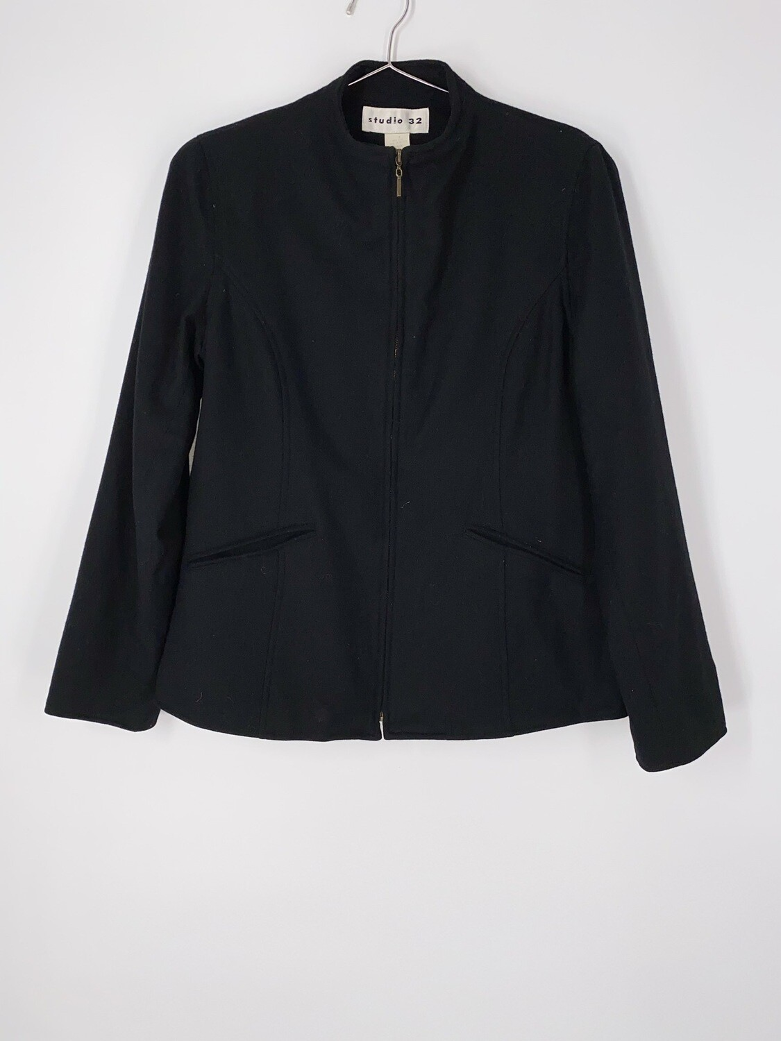 Wool Zip Up Jacket Size S
