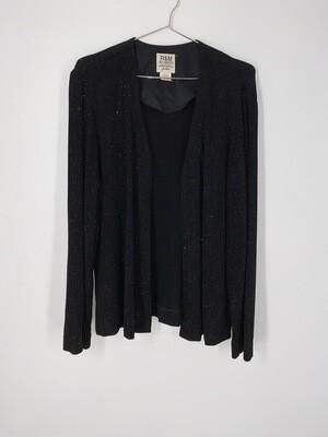 Sparkly Black Cardigan Size M