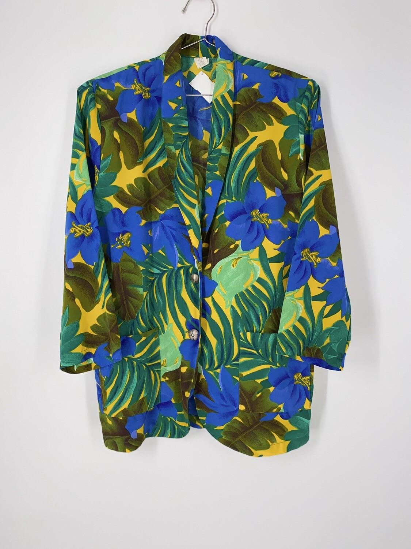 Tropical Print Blazer Size M