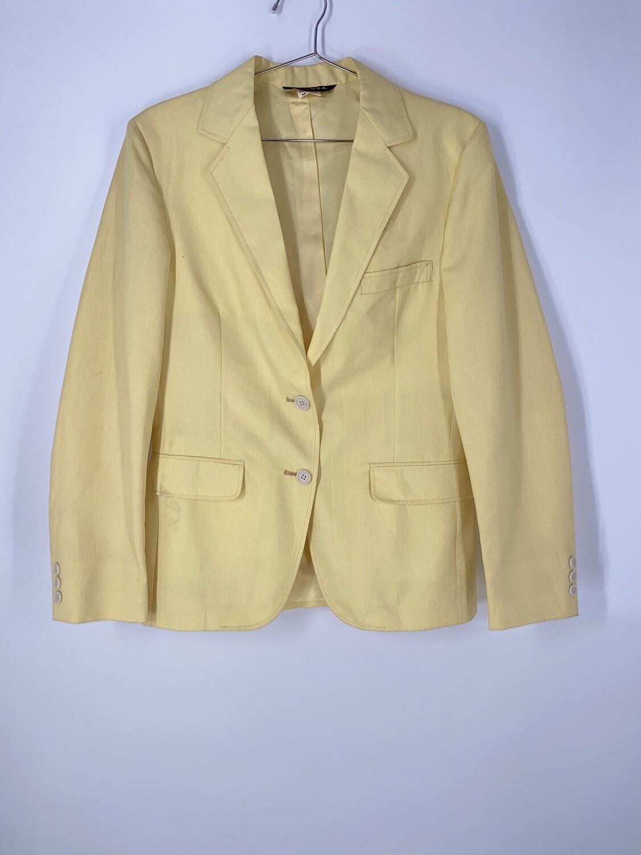Pastel Yellow Blazer Size S