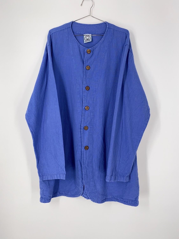 Button Up Cotton Top Size L