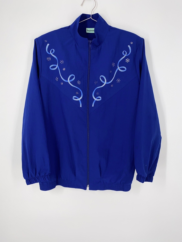 Snowflake Zip Up Jacket Size M