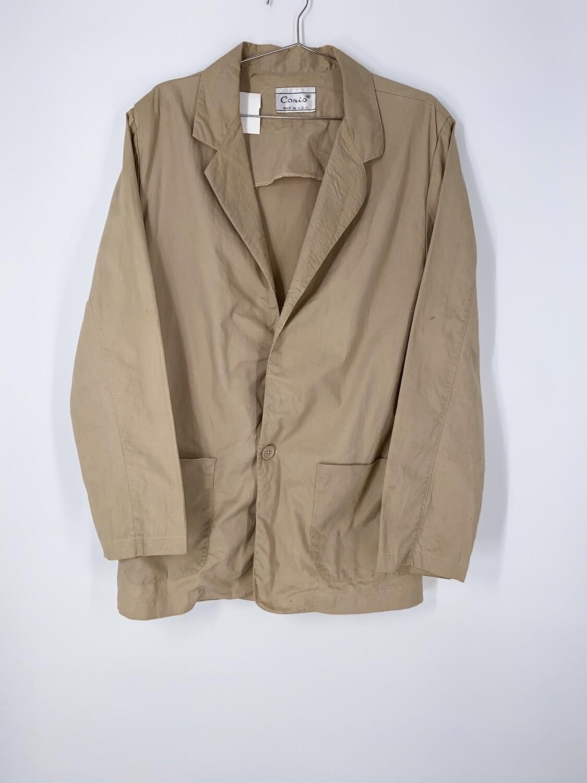 Khaki Cotton Blazer Size Medium
