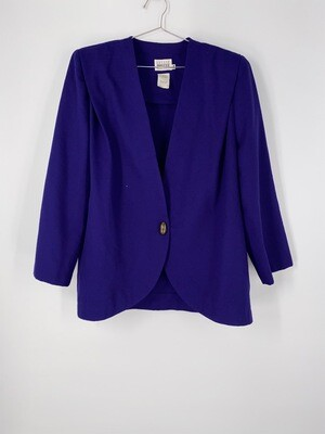 Leslie Fay Purple Blazer Size L