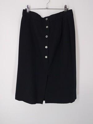 Button Up Split Hem Skirt Size L