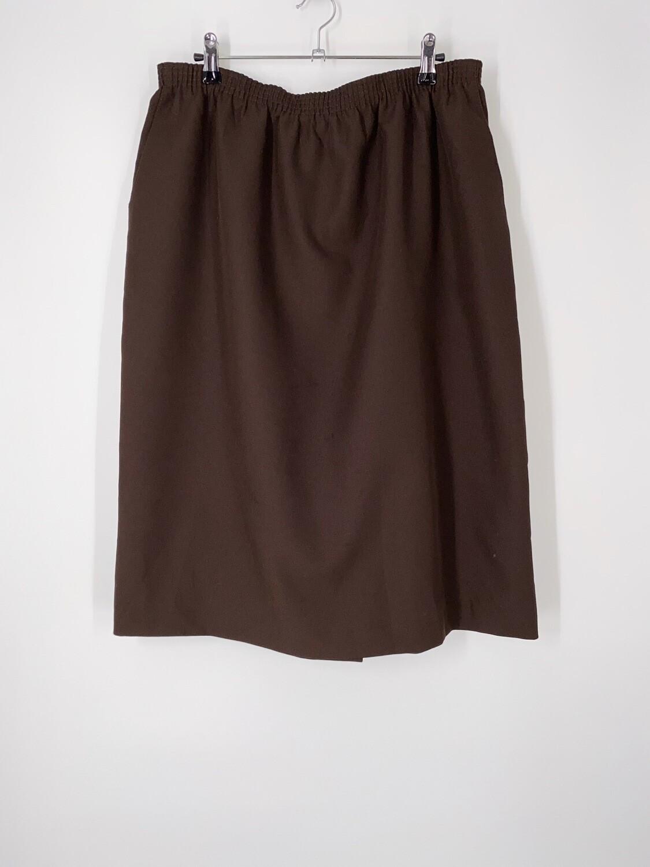 Dark Brown Skirt Size L