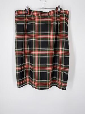 Bobbie Brooks Plaid Skirt Size 22