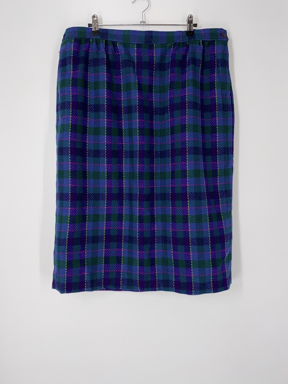 Pendleton Purple Plaid Skirt Size L