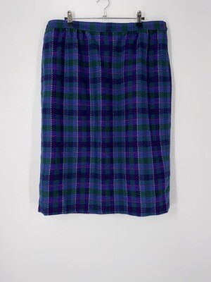 Pendleton Purple Plaid Skirt Size 18W