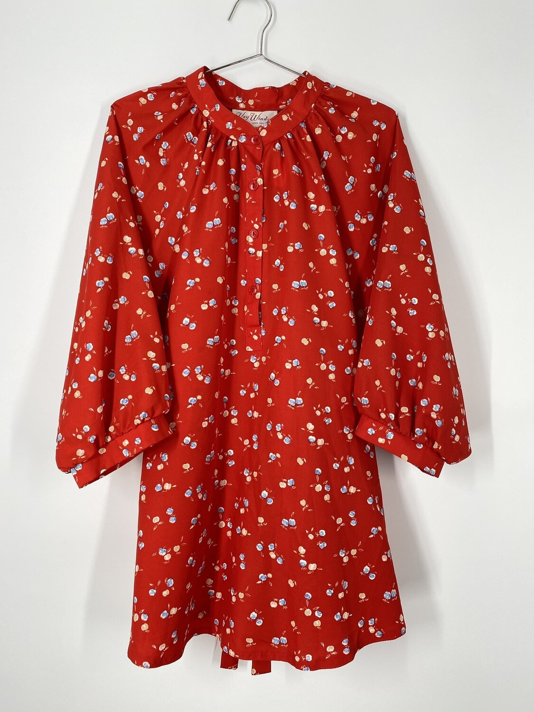 Kay Windsor Red Floral Print Top Size L