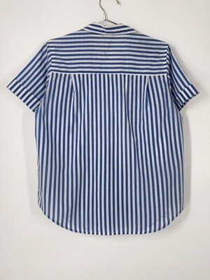 Blue And White Striped Button Up Top Size S