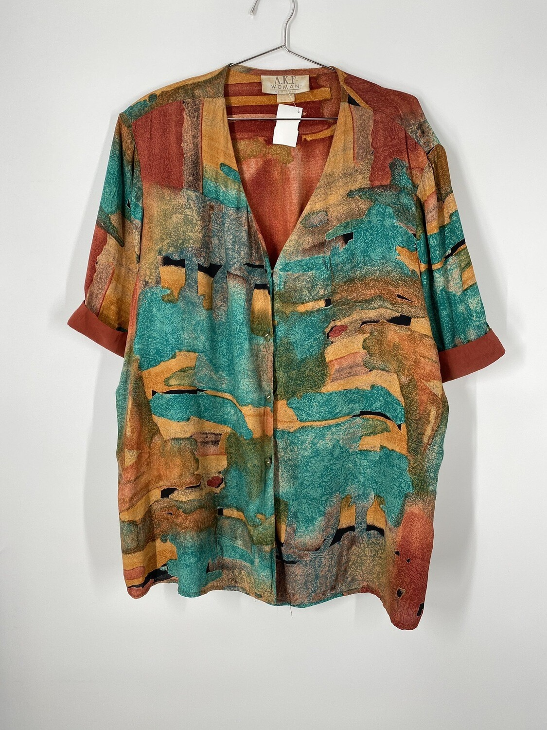 AKF Women Abstract Desert Print Top Size L