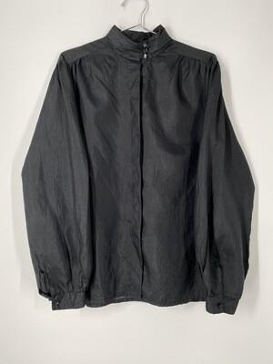 Paris Station Black Button Up Blouse Size L