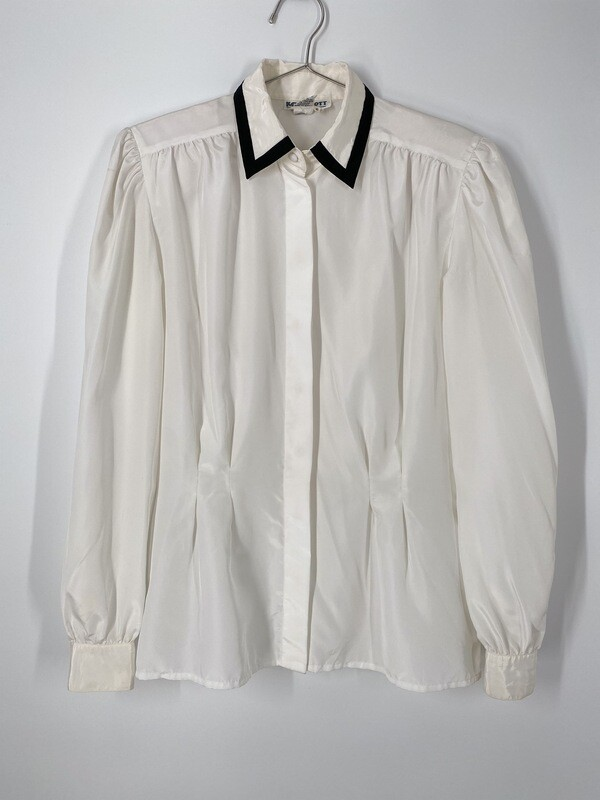 Kelly Scott White Button Up Top Size M