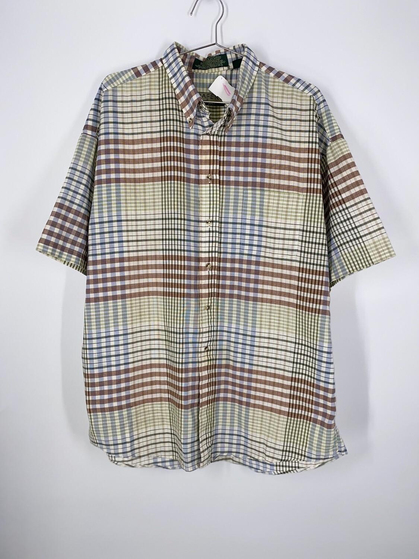 Plaid Short Sleeve Button Up Size L