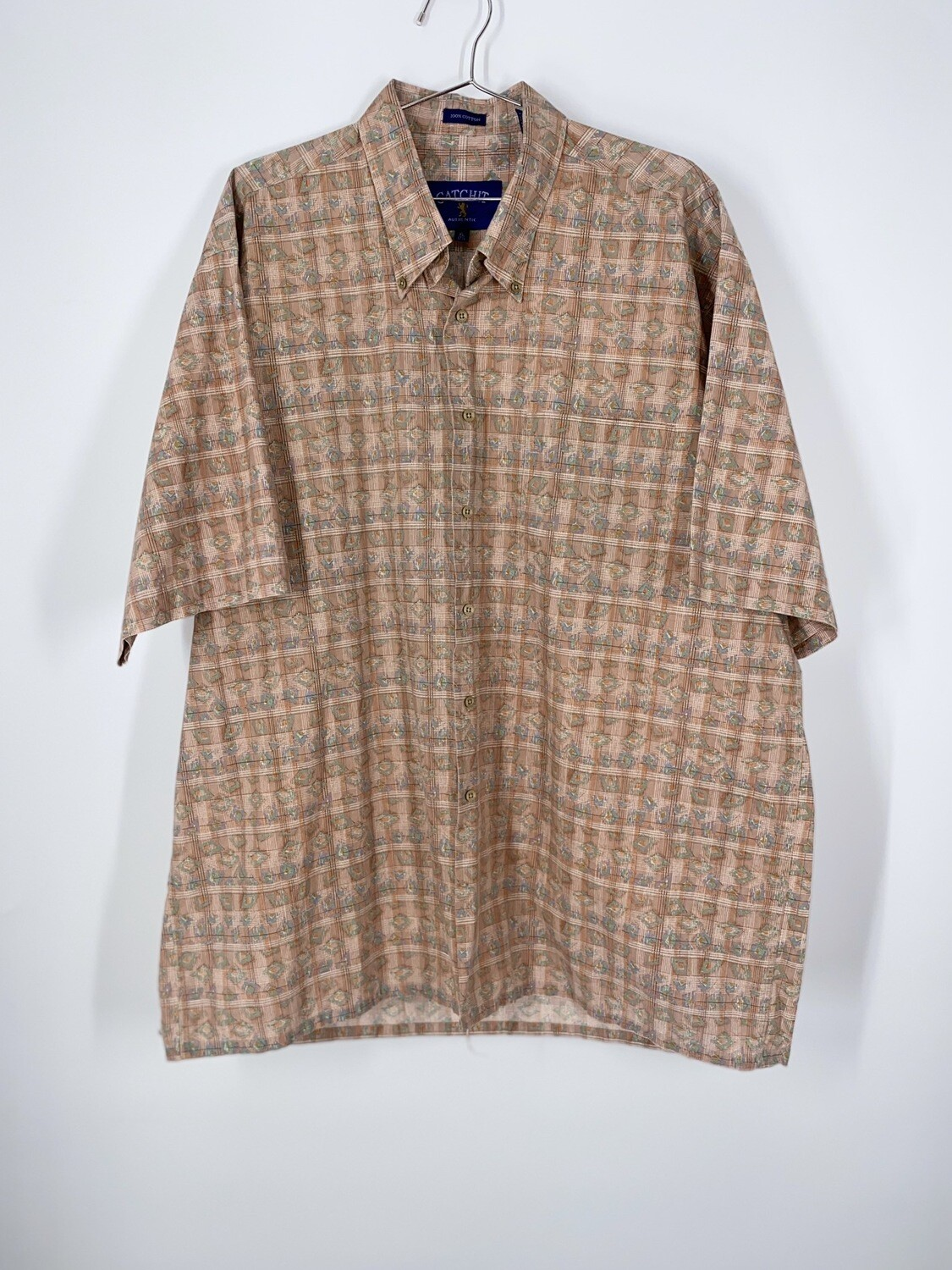 Catchit Printed Button Up Size L