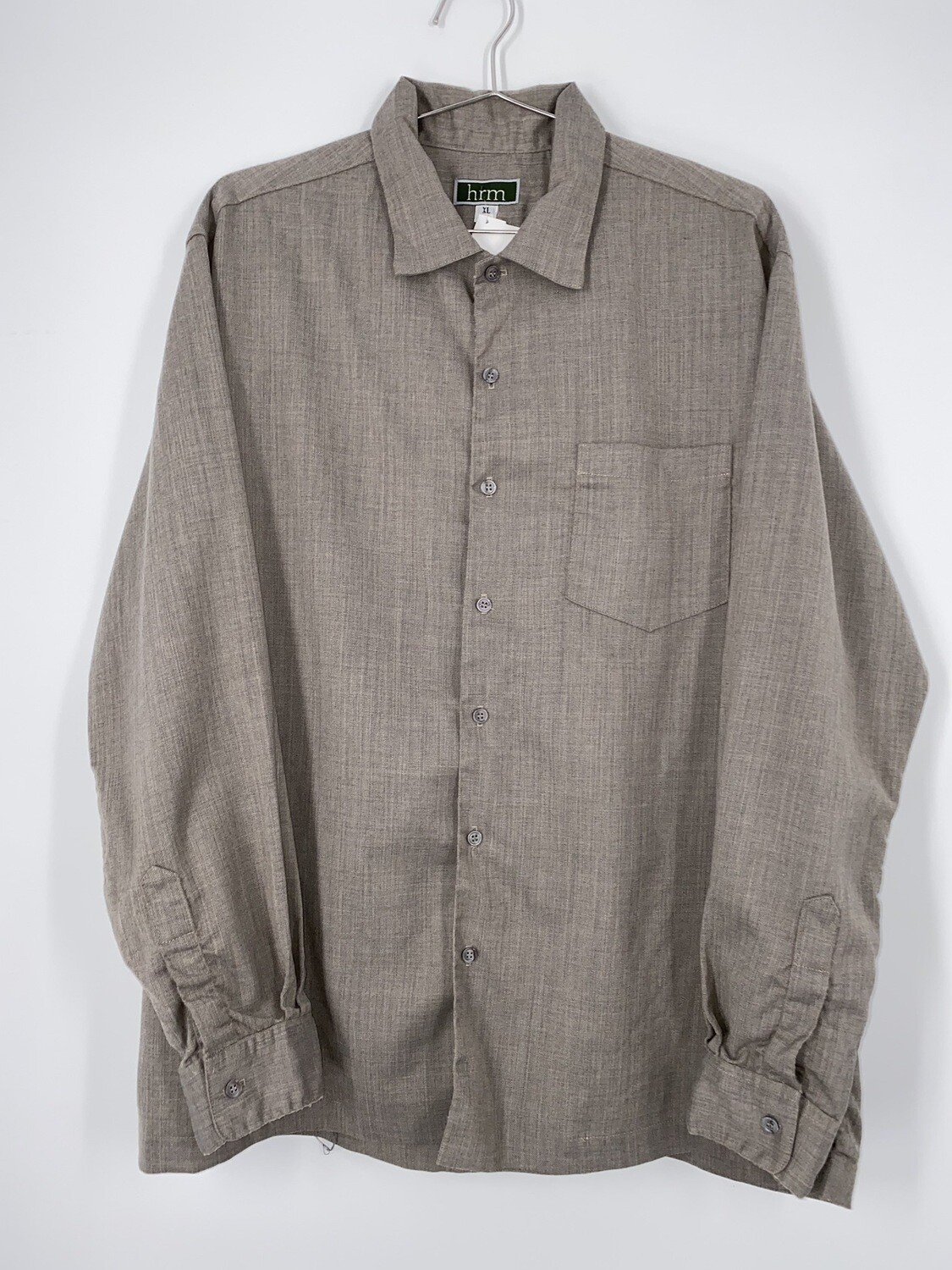 Hrm Grey Button Up Size L