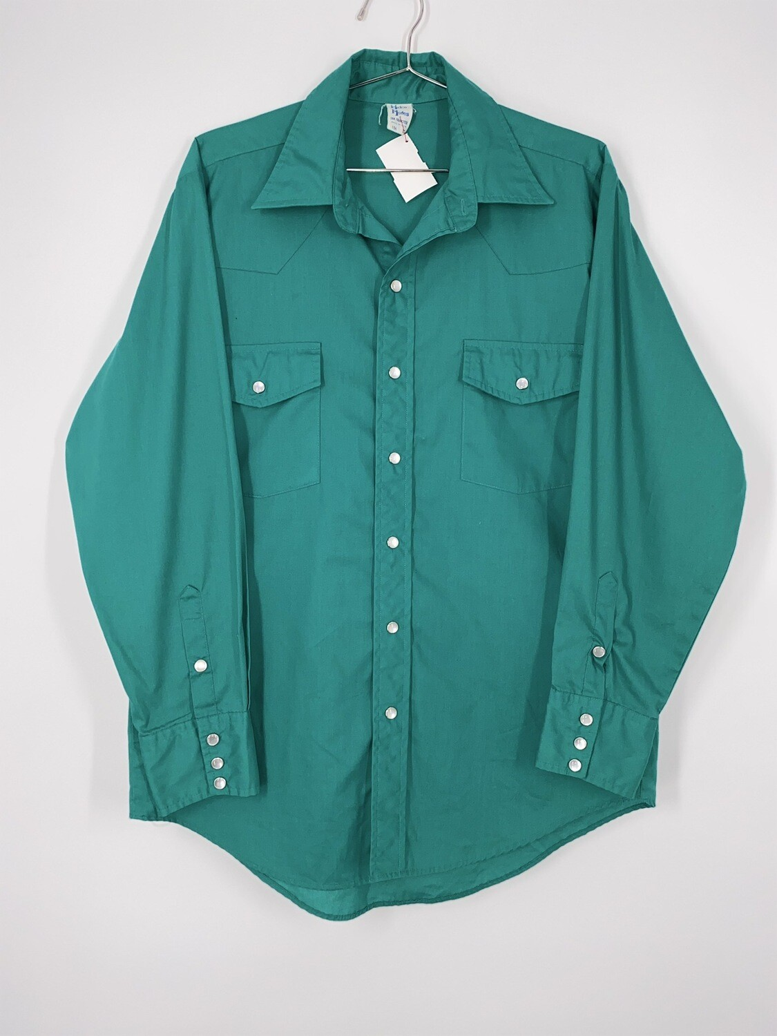 Make Modes Turquoise Western Style Button Up Size M