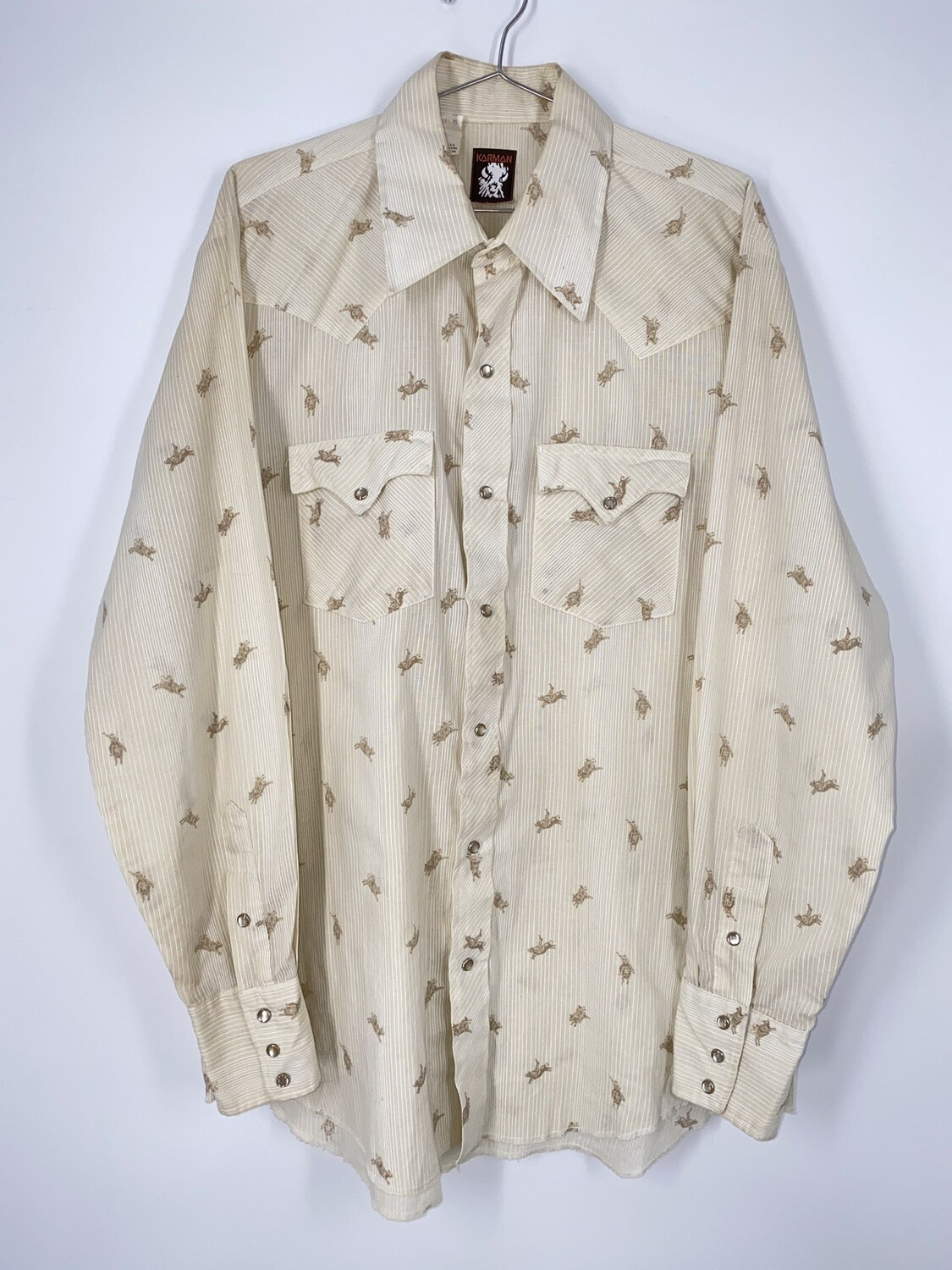 English Laundry Floral And Striped Button Up Size L
