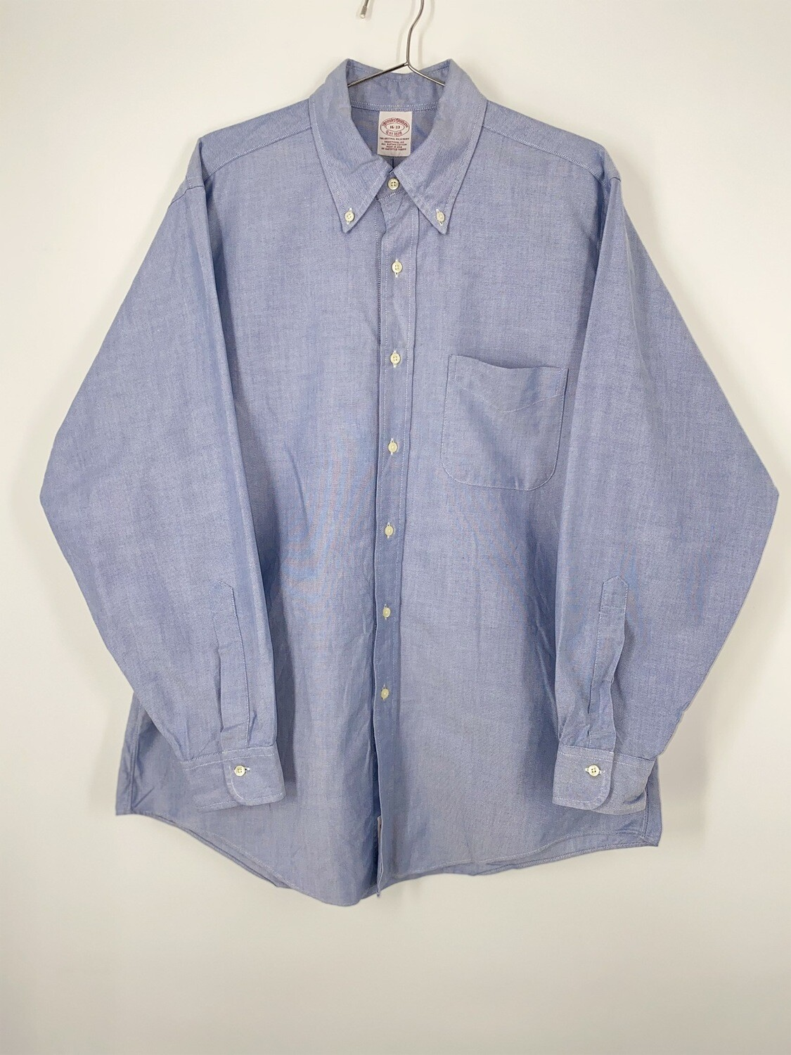 Brooks Brothers Blue Chambray Button Down Size L