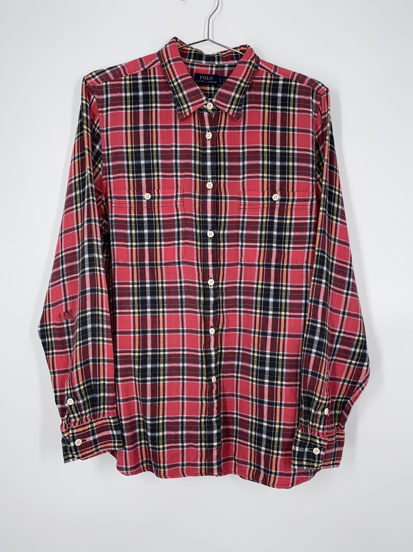 Polo Ralph Lauren Plaid Flannel Button Up Size L