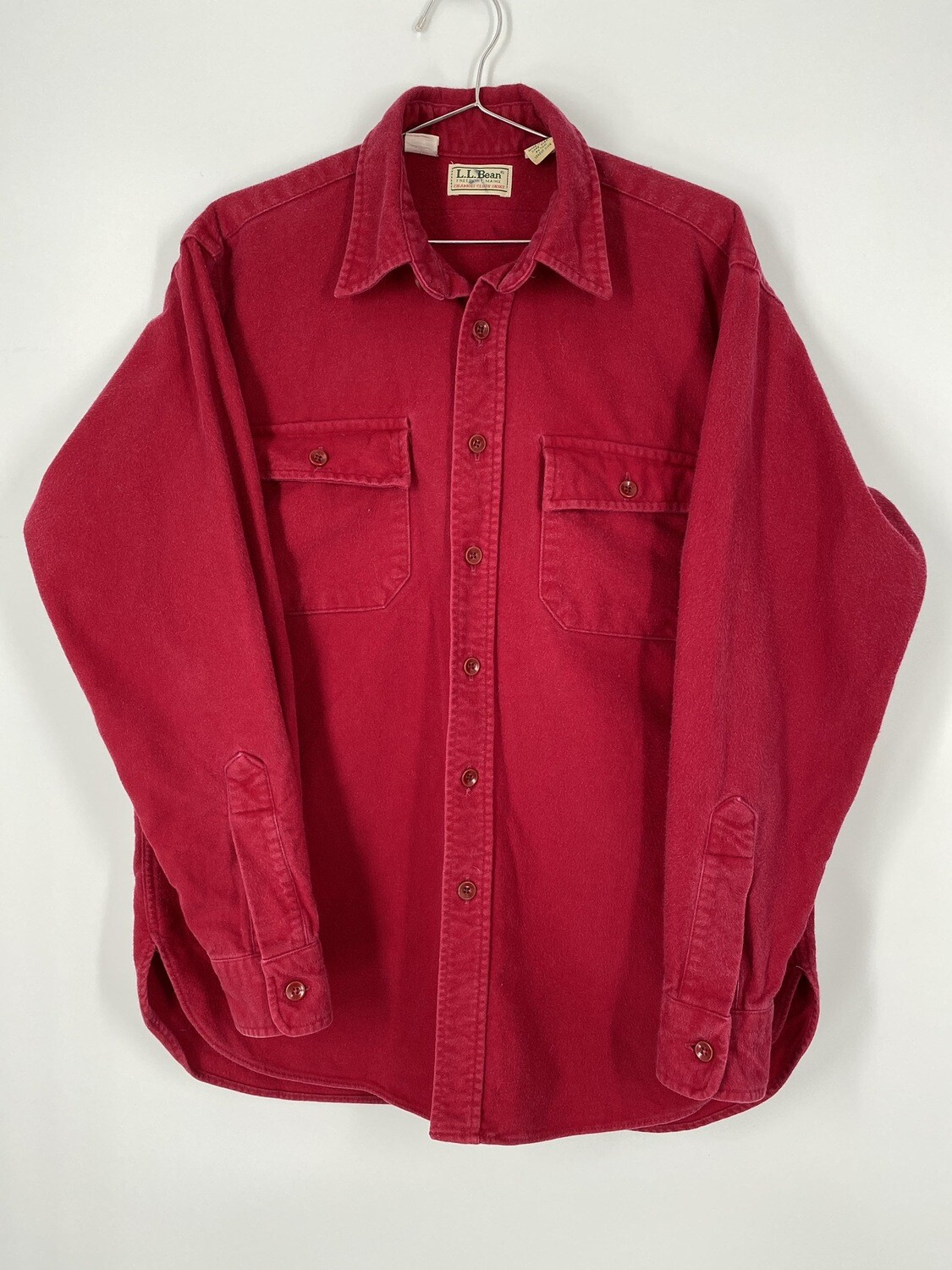 L.L. Bean Red Flannel Button Up Size M