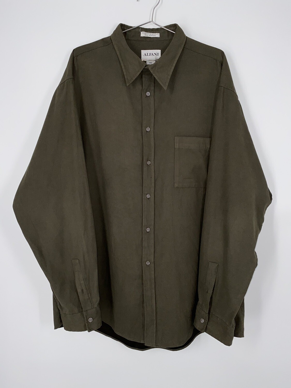 Alfani Soft Brown Button Up Size L