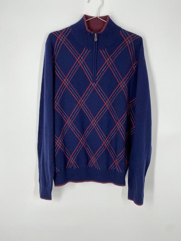Brooks Brothers Zip Sweater Size Medium