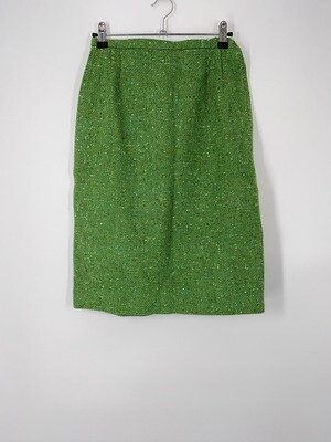Green Speckled Wool Skirt Size M