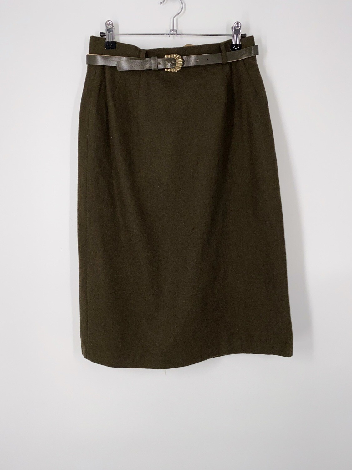 Brown Belted Skirt Size M
