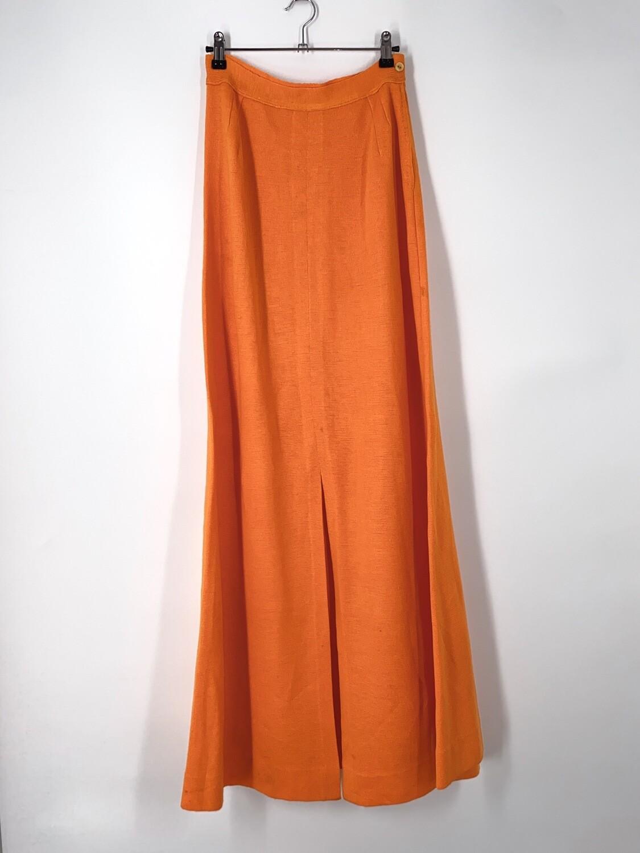 Orange Split Hem Maxi Skirt Size S