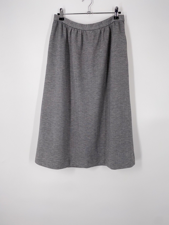Grey Knee Length Skirt Size L