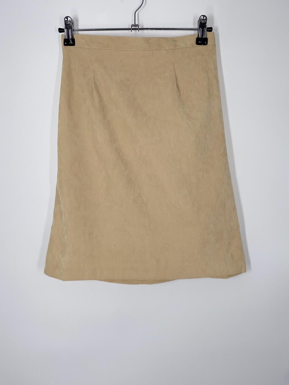 Tan Velvet Skirt Size S