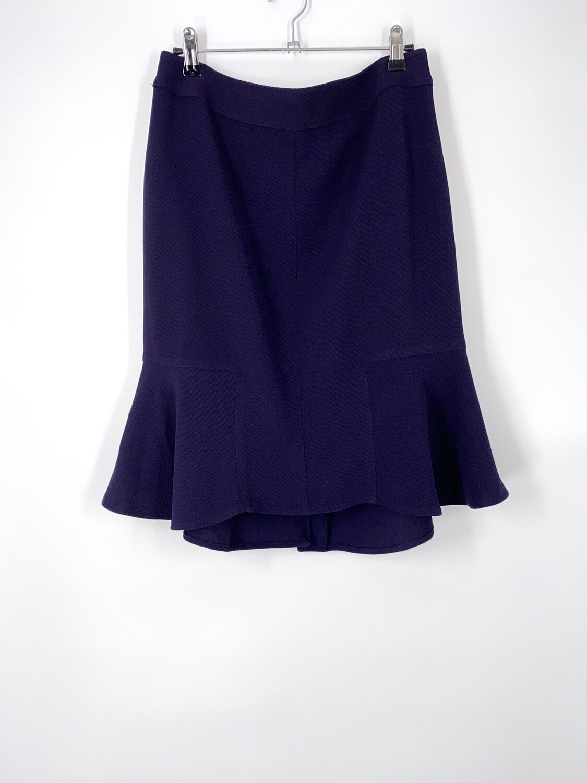 Navy Ruffled Hem Skirt Size M