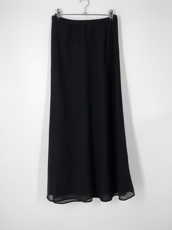 Black Sheer Overlay Skirt Size S