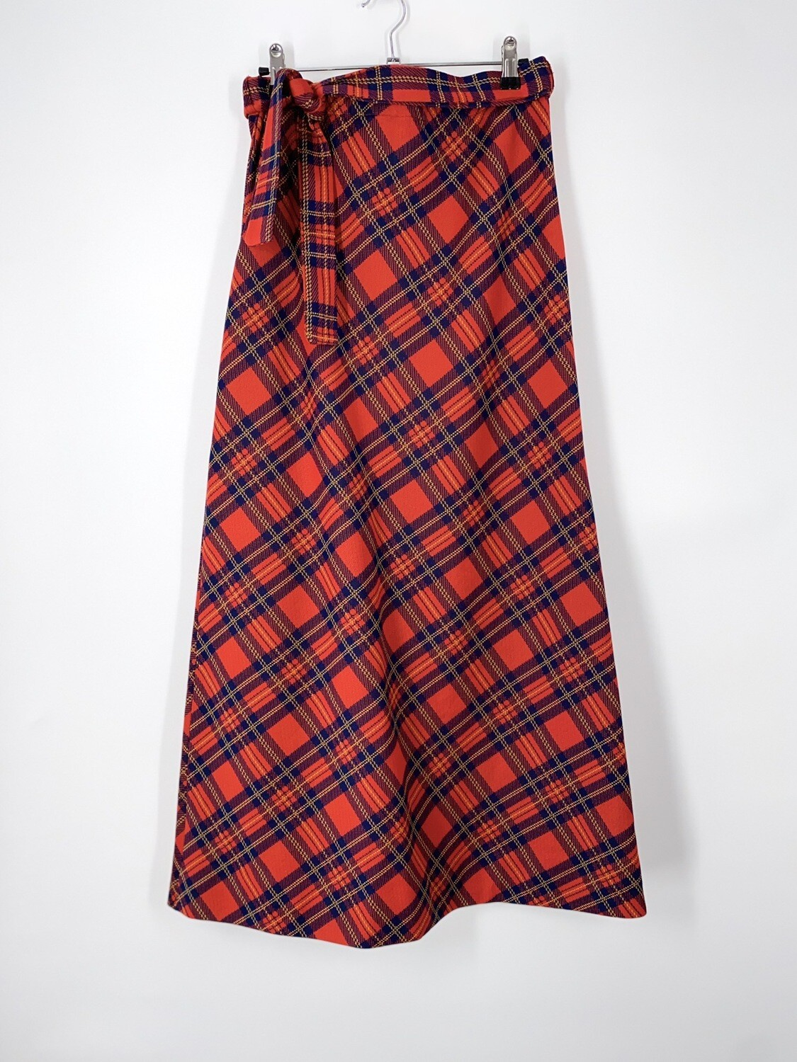 Plaid Belted Maxi Skirt Size S