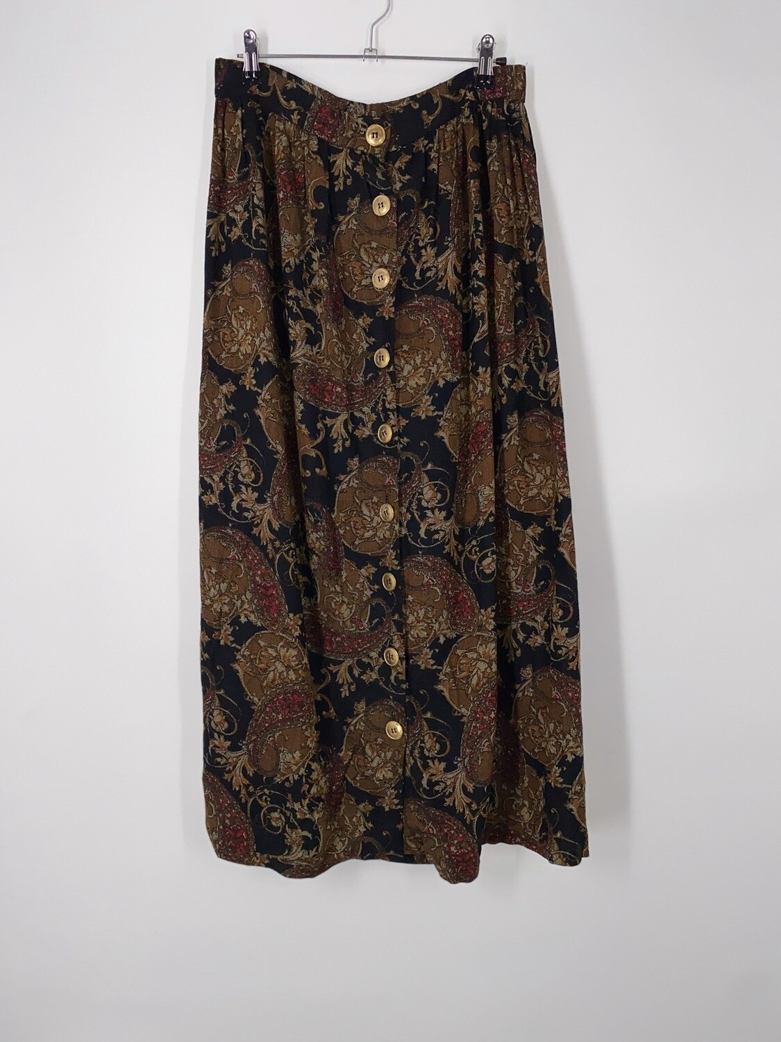 Patterned Button Up Skirt Size M
