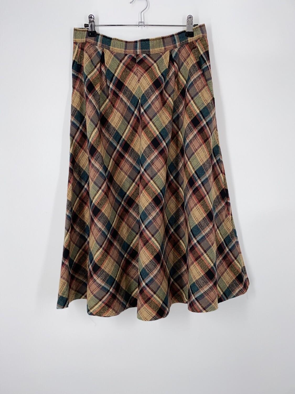 Plaid Circle Skirt Size M