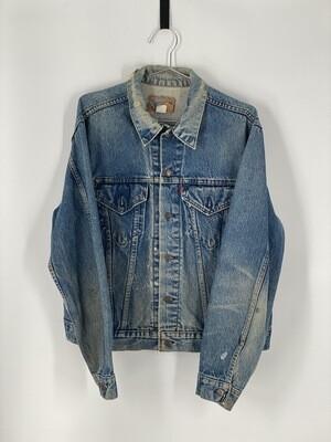 Levi's Distressed Denim Jacket Size M