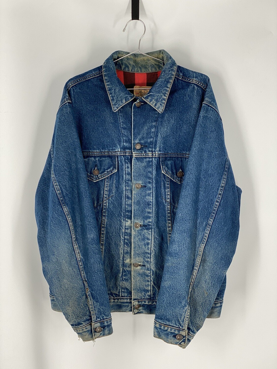 Plain Pockets Denim Jacket Size L