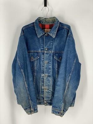 Plain Pockets Denim Jacket Size L
