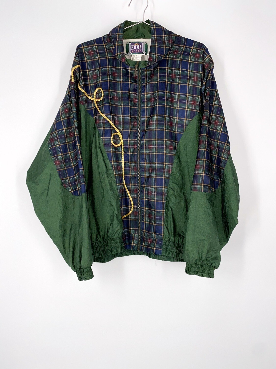 Dark Green Plaid Windbreaker Size L