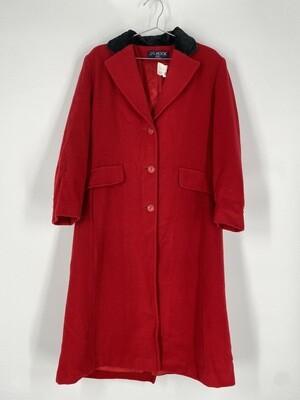 J.G Hook Red Wool Heavy Coat Size M
