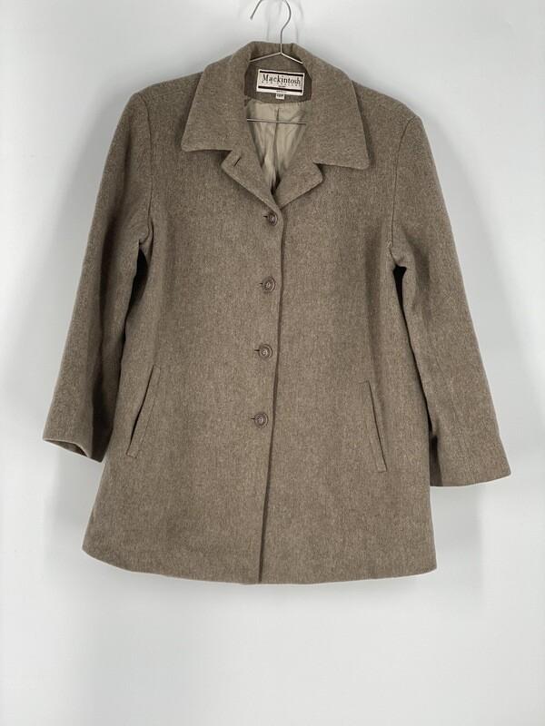 Mackintosh Tan Heavy Coat Size L