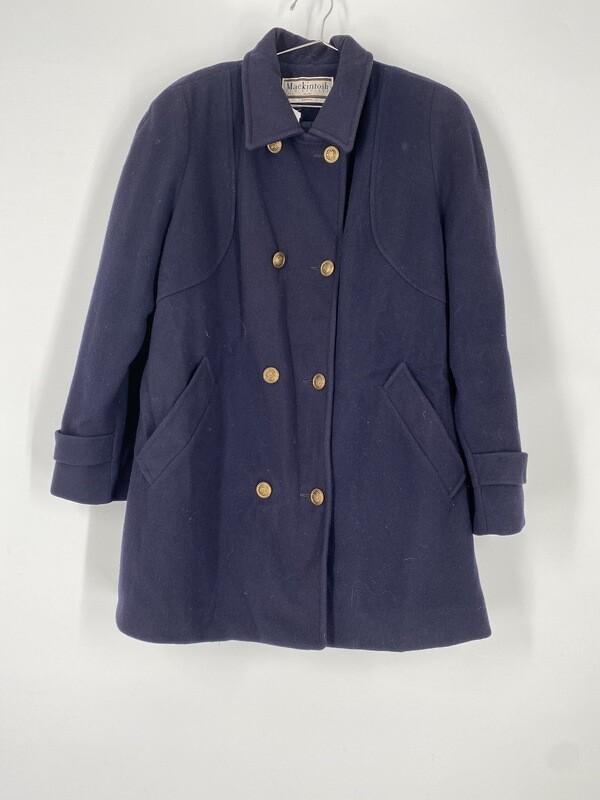 Mackintosh Navy Heavy Coat Size M