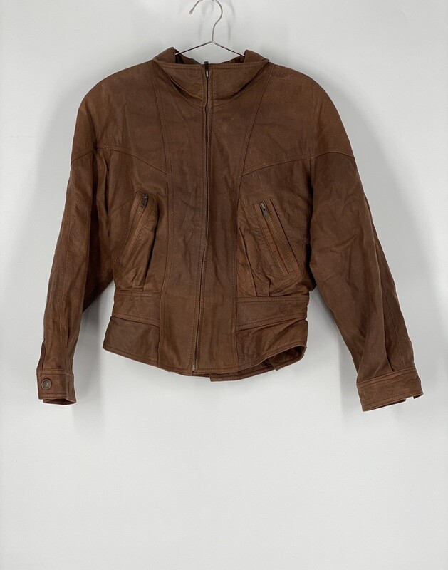 Adventure Bound Brown Leather Jacket Size M