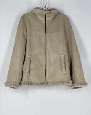Jones New York Beige Heavy Coat Size L